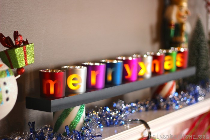 TheInspiredHome.org // 4 Simple DIY Holiday Mantels, Merry & Bright Mantel