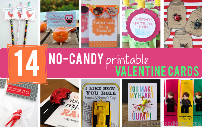 14 No-Candy Printable Valentine Cards at TheInspiredHome.org