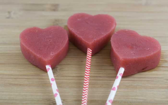 Healthy Valentines Day Treats - Strawberry Hearts