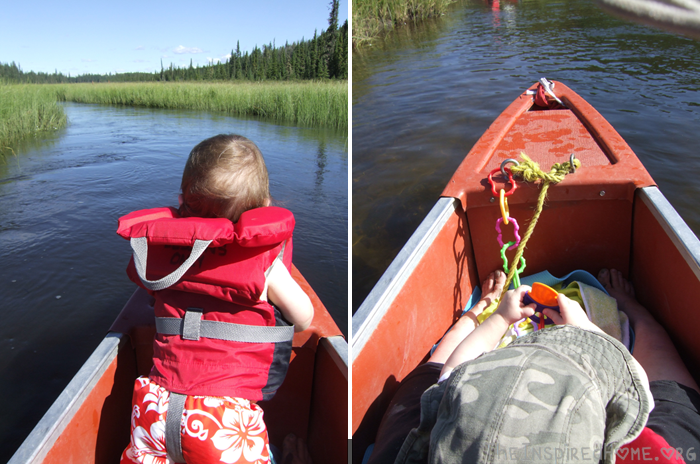 Family Canoeing Toddler Distractions