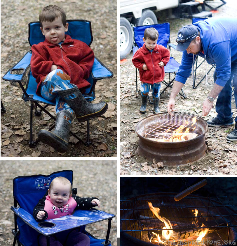 First Family Camp around the fire
