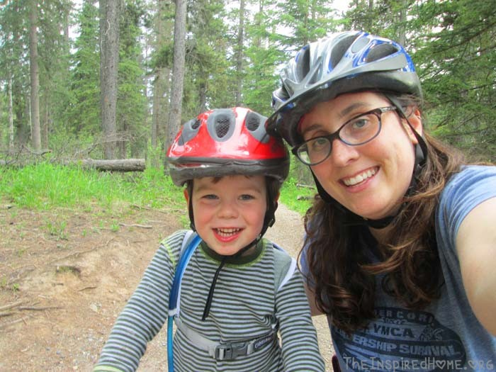 my mountain biker and mom