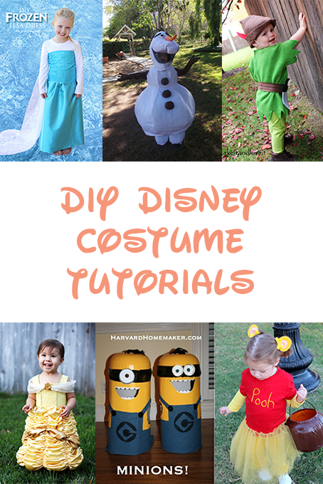 TheInspiredHome.org // DIY Disney Costumes including Elsa, Olaf, Minions, Belle, Boo, Tigger, Peter Pan and more!