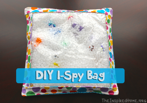 TheInspiredHome.org // DIY I-Spy Bag Tutorial; sew a simple yet fun gift for your little one.