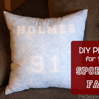 DIY Pillow for Sports Fans
