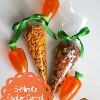 TheInspiredHome.org // No Candy Easter Carrot Treat Bags that you can make in less than 5 minutes!