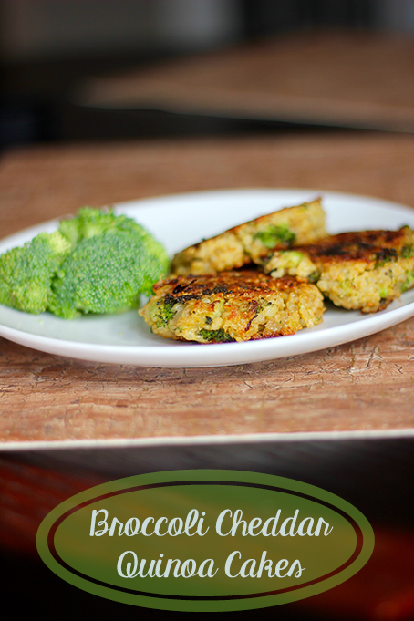 TheInspiredHome.org // Broccoli Cheddar Quinoa Cakes are a great vegetarian dish that you can have for breakfast, lunch or dinner! The kids will love them too.