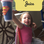 TheInspiredHome.org // How To Make Your Own Super Hero Juice, for thirsty super heroes on the go!
