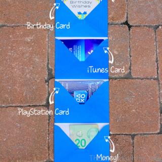 DIY Birthday Gift: Money & Gift Card Envelope Chain