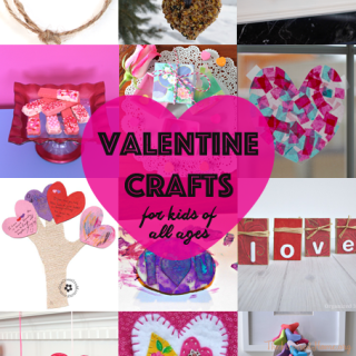 A collection of Valentine's Day Crafts perfect for all ages from toddlers to big kids.