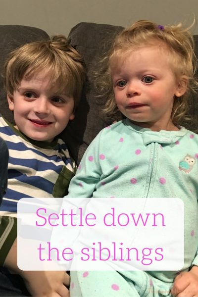 Settling down the siblings