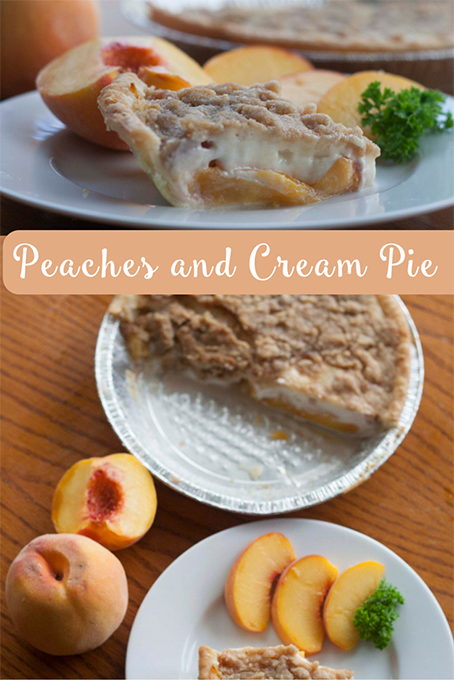 TheInspiredHome.org // Peaches and Cream Pie. A simple sour-cream based pie recipe using fresh peaches.