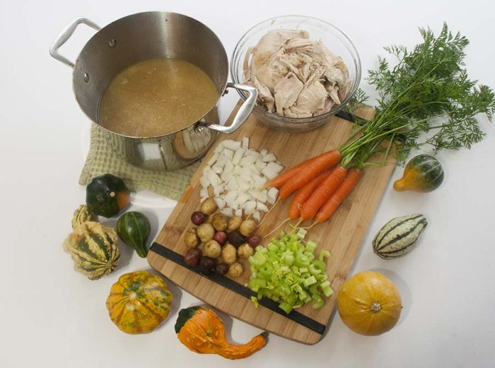 TheInspiredHome.org // Simple Whole Food Turkey Soup made with garden fresh ingredients.