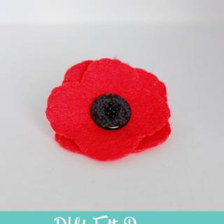 DIY Felt Poppy – Includes Free Template!