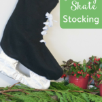 TheInspiredHome.org // DIY Hockey Skate Stocking. The perfect DIY stocking for the hockey lover in your life!