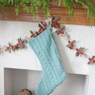 DIY Upcycled Sweater Stocking