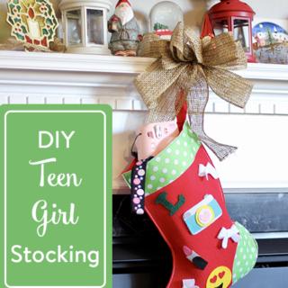 DIY Teen Girl Stocking