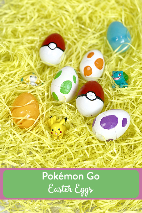 TheInspiredHome.org // Pokemon Go Easter Eggs, Pokemon Go Easter Egg, Pokemon Go Easter Basket // Fill their basket with these simple DIY Pokemon Go Easter eggs including a felt, no-sew version, and a no-candy Pokemon Go Easter Basket.