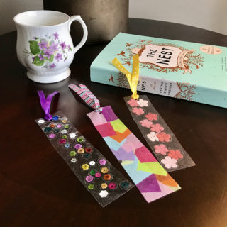 Mother's Day Contact Paper DIY Bookmarks