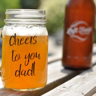 DIY Custom Craft Beer Mugs for Dad