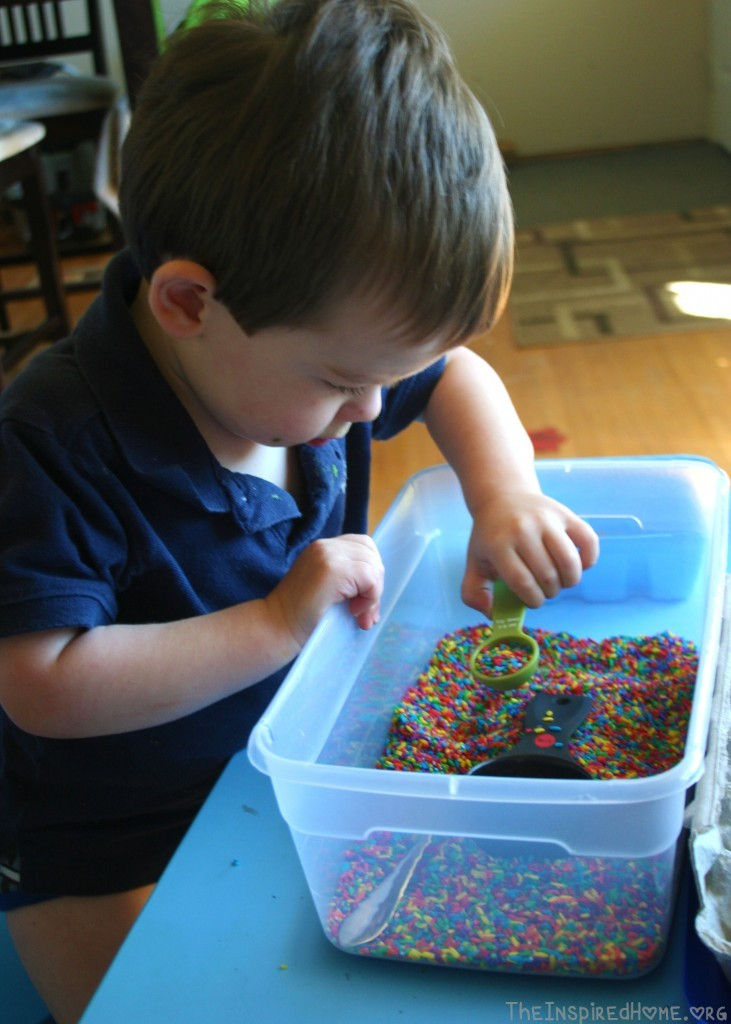 Montessori Monday: 20 Recycled or Thrift Store Items for your sensory bin: Using Them
