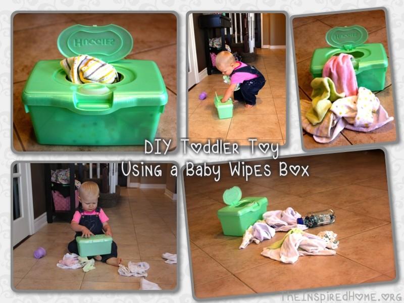 DIY Baby Wipes Toy