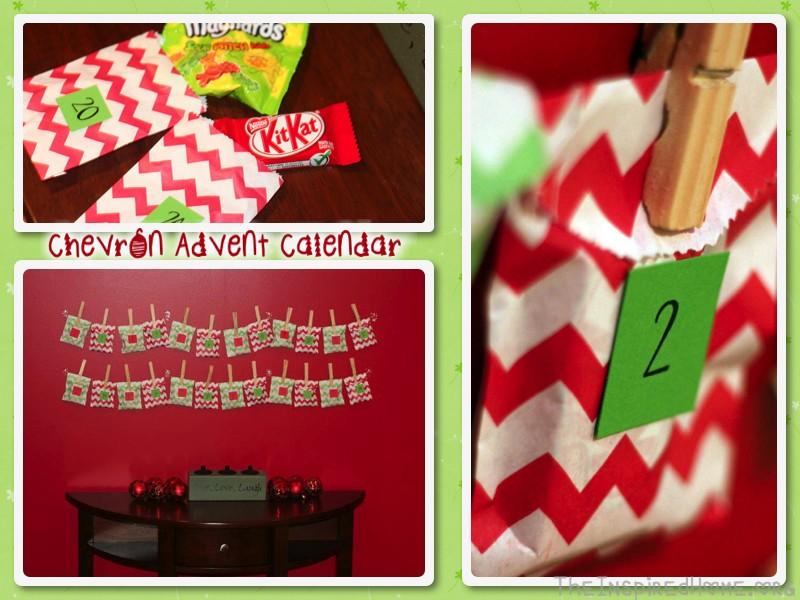 chevron advent calendar
