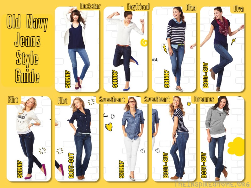 old navy jeans style guide