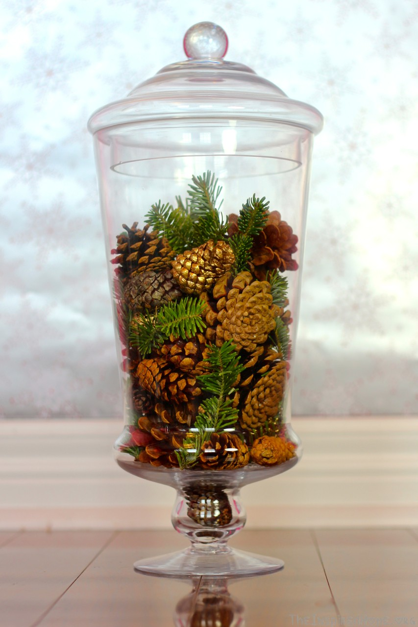 pinecone vase filler