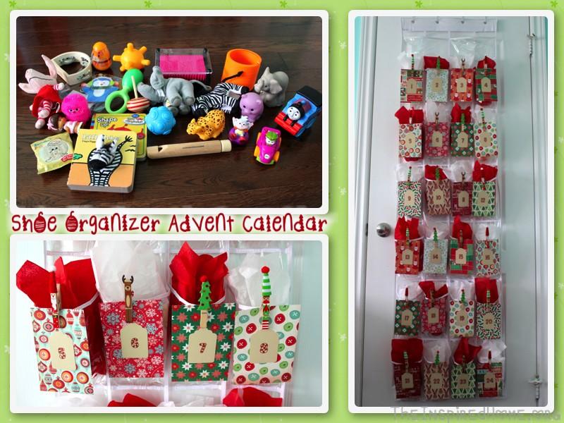 shoe organizer advent calendar