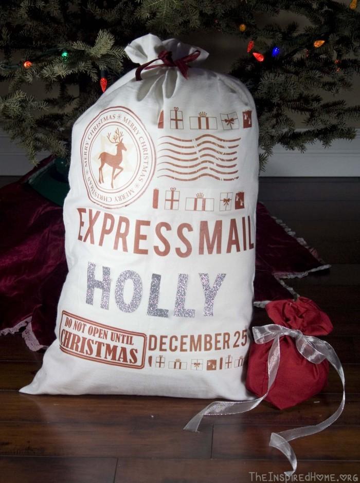 No Sew Santa Sack