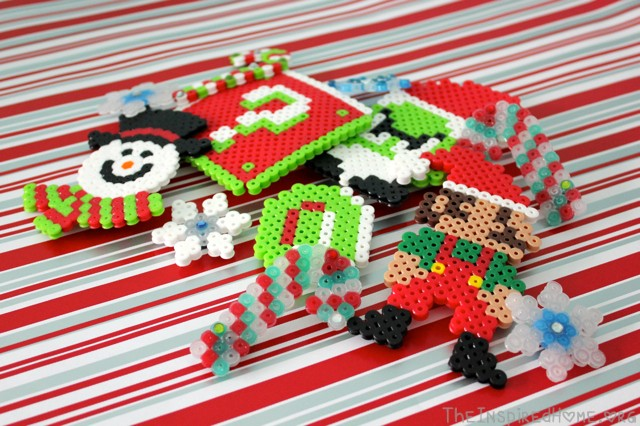 Christmas Perler Bead Crafts • The Inspired Home