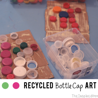 Recycled Bottle Cap Art
