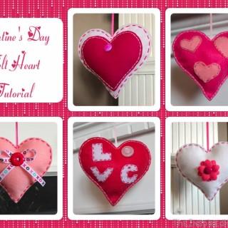 Valentine's Day Felt Hearts