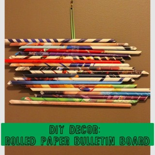 DIY Decor: Rolled Paper Bulletin Board