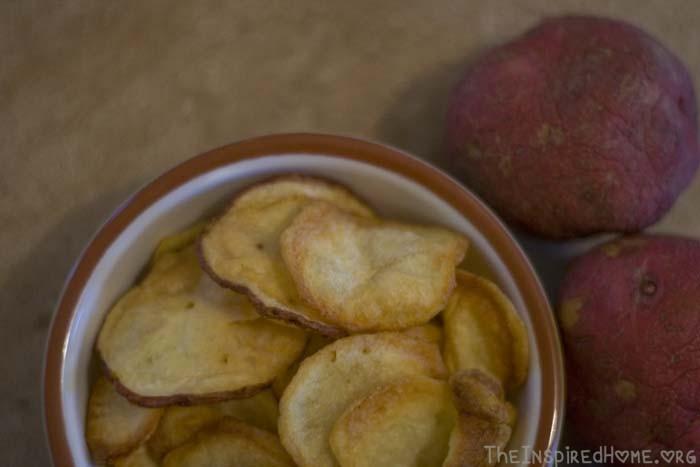 Bowl of Homemade Potato Chips