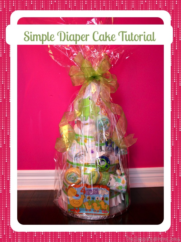 A simple and easy-to-follow Diaper Cake Tutorial from TheInspiredHome.org