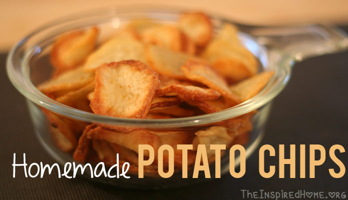 Homemade Potato Chips Using Actifry The Inspired Home