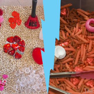 Valentine's Day Sensory Bin: 2 Ways