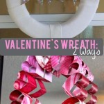 TheInspiredHome.org // These Valentines Day Wreaths gives you two options - a quick and simple craft & intermediate craft to try for stunning heart filled decor.