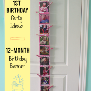 1st Birthday Party Ideas: 12-Month Banner