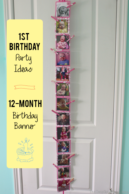 This 12-Month Birthday Banner is a simple and fabulous 1st birthday party decoration for your little one's. From TheInspiredHome.org