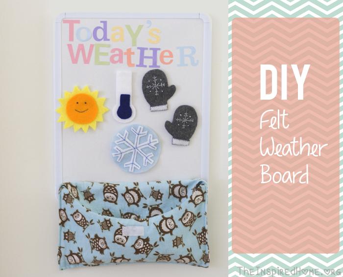 DIY Felt Weather Board