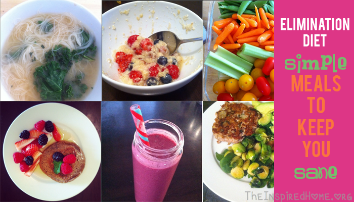 Elimination Diet Simple Meals To Keep You Sane