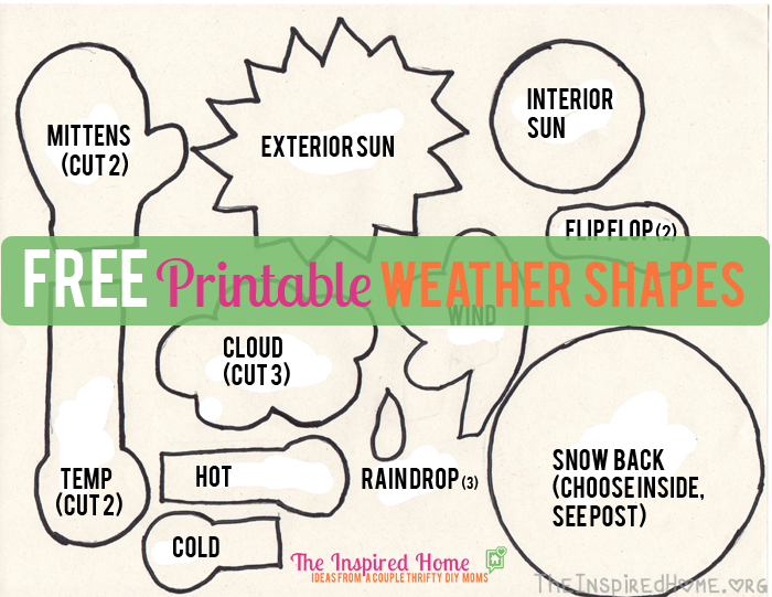 FREE Printable Weather Shapes