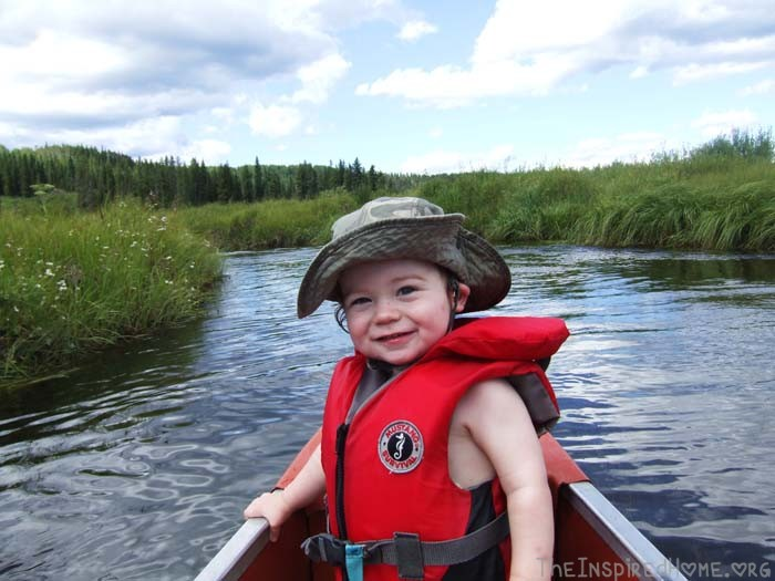 Family Canoeing with a Toddler