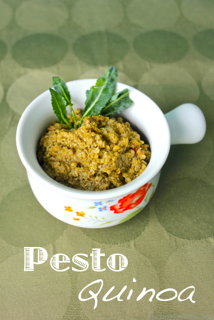 A 3-ingredient recipe for Pesto Quinoa. Quick, simple and great hot or cold. From TheInspiredHome.org