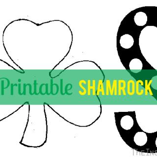 Shamrock Dot Art with FREE Printable