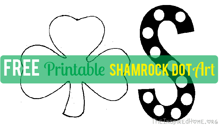 photo regarding Printable Shamrock Images named Shamrock Dot Artwork with Absolutely free Printable The Impressed Residence