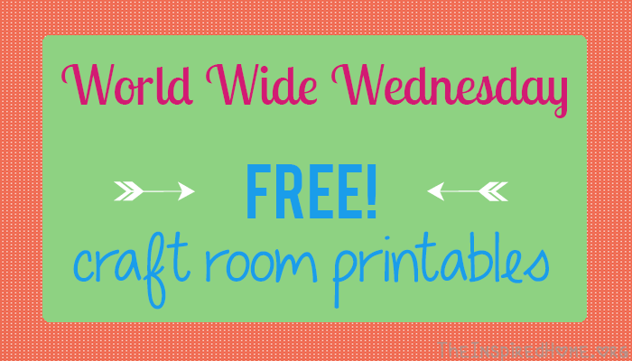 Looking to decorate the walls of your craft room? Check out these awesome FREE printables! From The InspiredHome.org